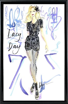 East Urban Home 'Lacy Day' Print; Black Metal Framed Paper