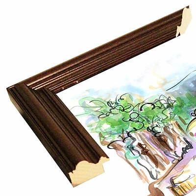 East Urban Home 'Vine and Dine' Print; Cherry Wood Grande Framed Paper
