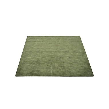 Latitude Run Delano Solid Hand Knotted Wool Green Area Rug; 5' x 8'