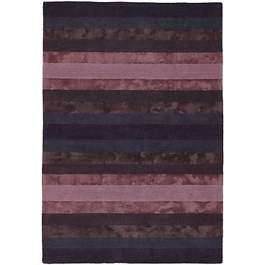 Everly Quinn Emlyn Blue/Purple Stripes Area Rug; 5' x 7'6''