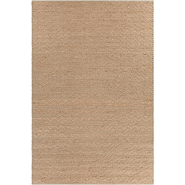 Gracie Oaks Hammonton Textured Contemporary Wool Natural Area Rug; 7'9'' x 10'6''