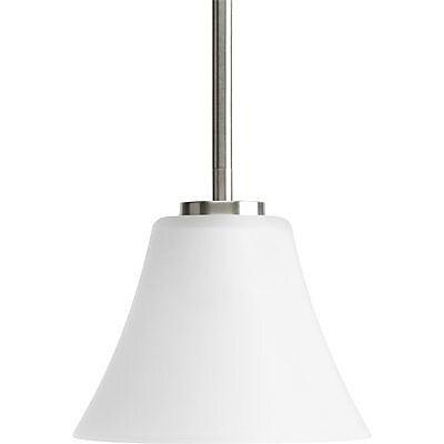 Fleur De Lis Living Karla 1-Light Mini Pendant; Brushed Nickel