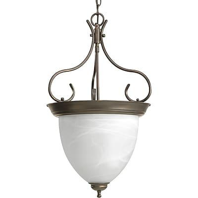 Fleur De Lis Living Cates 4-Light Foyer Pendant; Antique Bronze