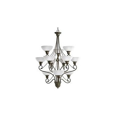 Fleur De Lis Living Adrienne 12-Light Shaded Chandelier; Antique Bronze