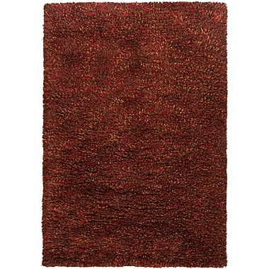 Loon Peak Aviles Red Area Rug; Rectangle 7'9'' x 10'6''