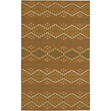 Loon Peak Barbazan Brown Rug; Round 5'9''
