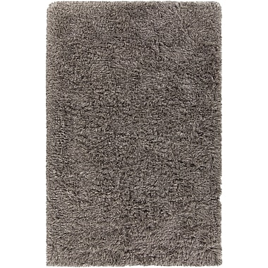 Orren Ellis Cleaver Hand-Woven Gray/Black Area Rug; 7'9'' x 10'6''