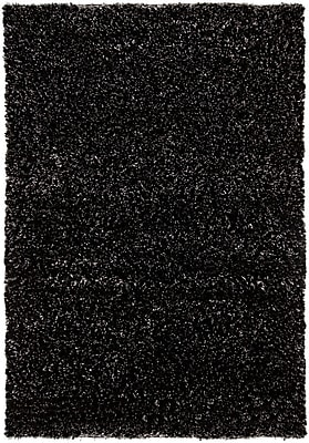 Orren Ellis Themis Black Area Rug; Rectangle 9' x 13'