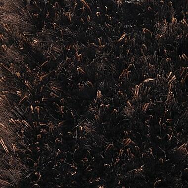Orren Ellis Themis Dark Brown Area Rug; Rectangle 9' x 13'