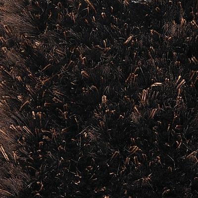 Orren Ellis Themis Dark Brown Area Rug; Round 7'9''