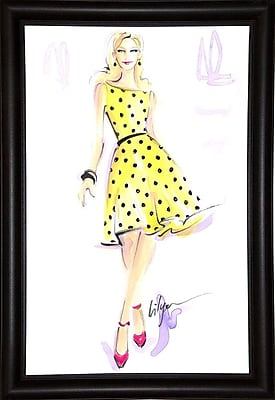 East Urban Home 'Sunny Day Dreaming' Print; Bistro Expresso Framed Paper