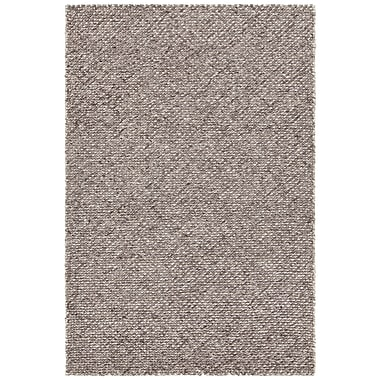 17 Stories Sylvan Hand-Woven Dark Gray Area Rug; 5' x 7'6''