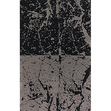 17 Stories Madhu Black/Gray Area Rug; Rectangle 7'9'' x 10'6''
