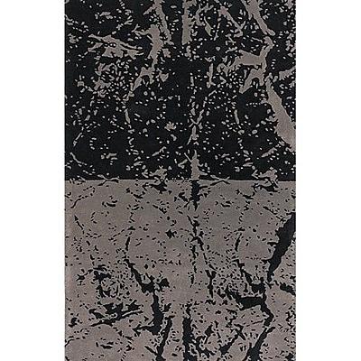 17 Stories Madhu Black/Gray Area Rug; Rectangle 5' x 7'6''
