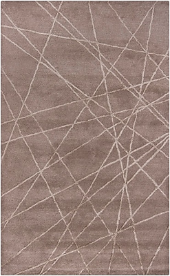 17 Stories Lee-Yin Hand Tufted Brown Geometric Area Rug; 5' x 8'