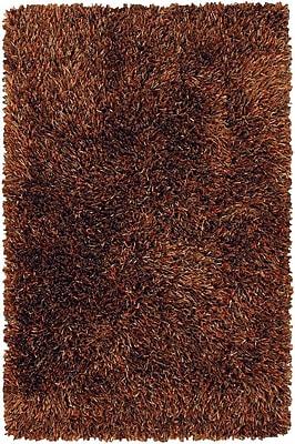 17 Stories Zhen Dark Brown Rug; 7'9'' x 10'6''