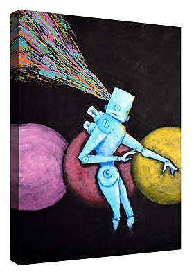 Varick Gallery 'Breakout' Giclee Acrylic Painting Print on Canvas; 26'' H x 18'' W x 1.25'' D