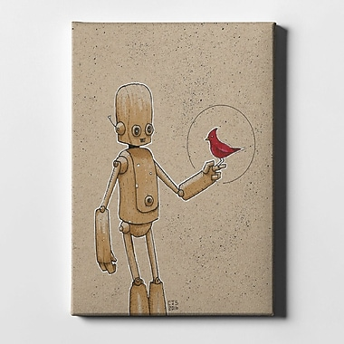 Varick Gallery 'Ink Bot Cardinal' Giclee Graphic Art Print on Canvas; 40'' H x 26'' W x 1.25'' D