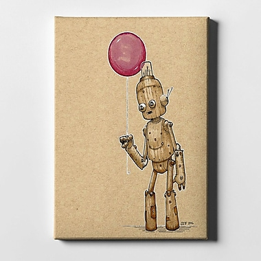 Varick Gallery 'Ink Bot Balloon' Giclee Graphic Art Print on Canvas; 26'' H x 18'' W x 1.25'' D