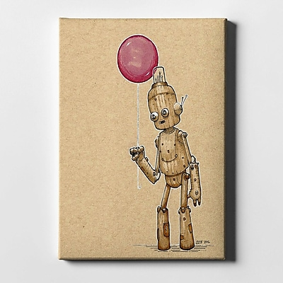 Varick Gallery 'Ink Bot Balloon' Giclee Graphic Art Print on Canvas; 40'' H x 26'' W x 1.25'' D