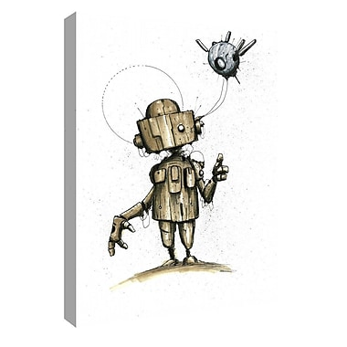 Varick Gallery 'Ink Bot 1.0' Giclee Watercolor Painting Print on Canvas; 40'' H x 26'' W x 1.25'' D