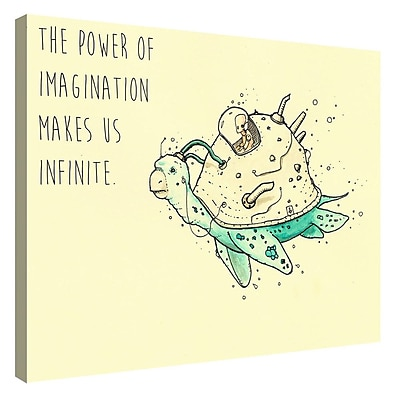 Varick Gallery 'Imagination' Giclee Graphic Art Print on Canvas; 12'' H x 18'' W x 0.75'' D