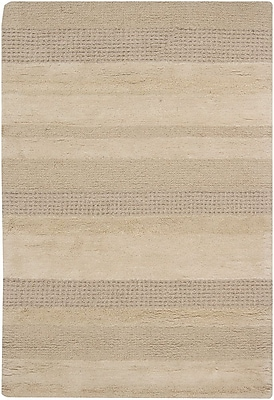 17 Stories Kha Tan Striped Rug; Rectangle 5' x 7'6''