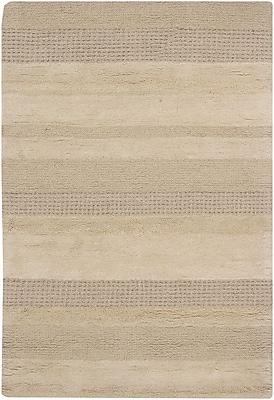 17 Stories Kha Tan Striped Rug; Rectangle 7'9'' x 10'6''