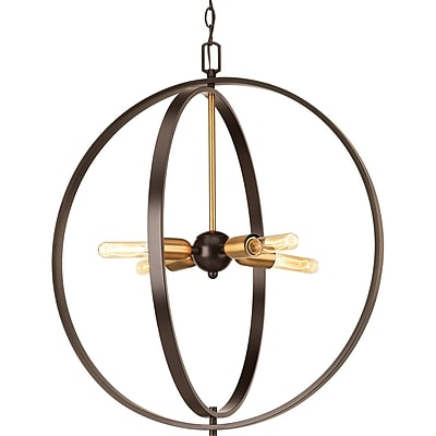 17 Stories Jaunita 4-Light Foyer Pendant; 23.25'' H x 20'' W