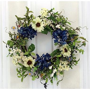 August Grove 19'' Mixed Flower Wreath