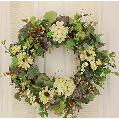 August Grove 22'' Hydrangea Wreath