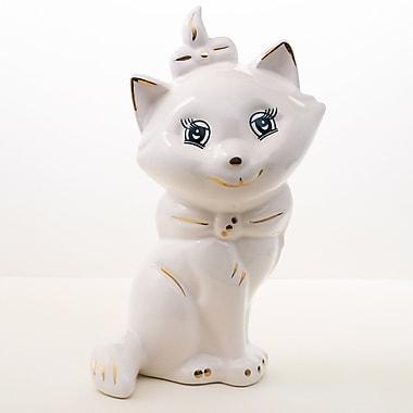 August Grove Chester Hill Handmade Decorative Ceramic Baby Cat Figurine