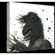 Foundry Select 'Majestic Friesian Horse' Horizontal Graphic Art Print on Wrapped Canvas