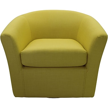 Ivy Bronx Burciaga Swivel Club Chair; Butter Yellow