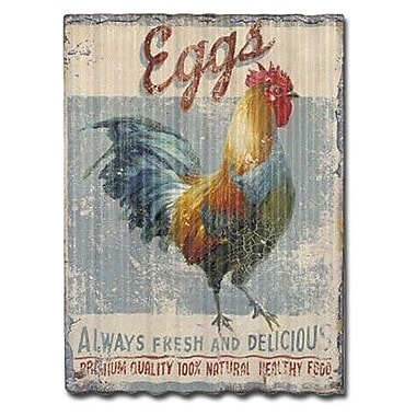 Gracie Oaks 'Rooster Themed' Vertical Graphic Art Print on Metal