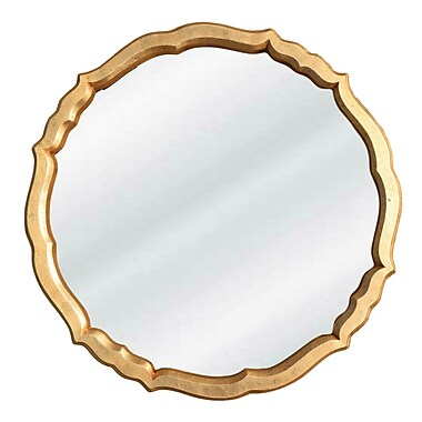 Rosdorf Park Nanette Accent Mirror; Gold