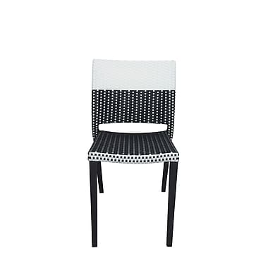 Source Contract Chloe Stacking Patio Dining Chair; Black