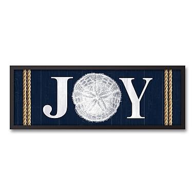 The Holiday Aisle 'Seashell Joy' Framed Textual Art on Canvas