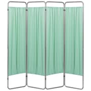 Symple Stuff 68'' x 54'' Privacy Screen 4 Panel Room Divider; Green