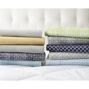 Varick Gallery Reith Premium Printed 200 Thread Count Microfiber Sheet Set; California King