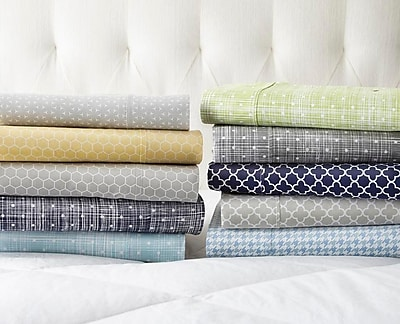 Varick Gallery Reith Premium Printed 200 Thread Count Microfiber Sheet Set; Queen