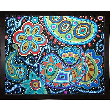 Winston Porter 'Paisley' Print; Black Wood Medium Framed Paper