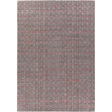 Bungalow Rose Tenleytown Hand-Woven Red/Gray Area Rug; 7'9'' x 10'6''
