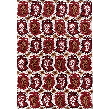 Bungalow Rose Cache Wool Abstract Rug; 5' x 7'