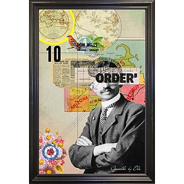 East Urban Home 'Gandhi' Framed Graphic Art Print; Wrapped Canvas