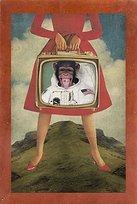 East Urban Home 'Monkey See Monkey Do' Framed Graphic Art Print