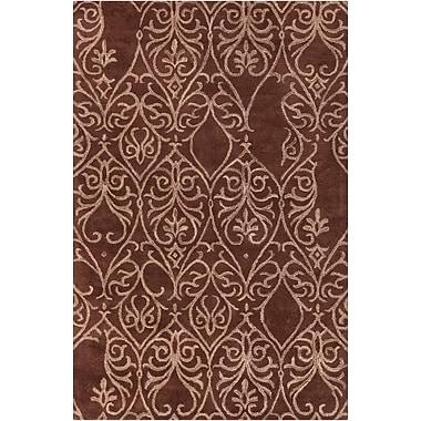 Bloomsbury Market Estella Chocolate/Mocha Area Rug; 5' x 7'6''