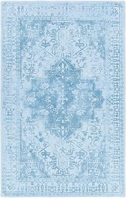 Bloomsbury Market Cedargrove Hand-Tufted Blue Area Rug; 7'9'' x 10'6''