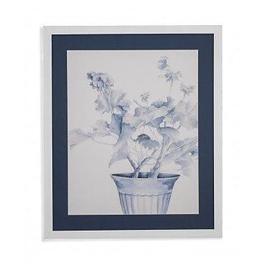 Darby Home Co 'Blue Geranium II' Framed Print