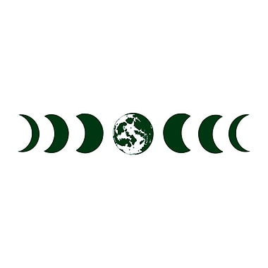 Decal House Moon Phases Wall Decal; Green